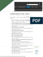 SQL Complex Queries