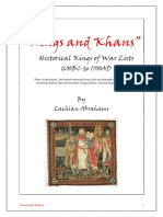 Kings and Khans 1600BC-1700AD