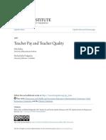Teacher Pay and Teacher Quality