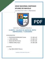 Monografia de Cliente-calidad de Servicio y Exito Empresarial