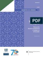 TRAYECTORIA DE MUJERES EDUCACION TECNICA-PROFESIONAL