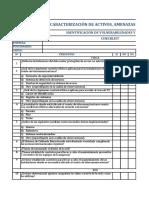 CHECKLIST IDENTIFICACIÓN DE VULNERABILIDADES Y AMENAZAS.xlsx