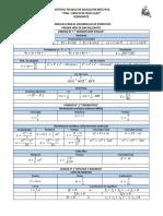 Tabla de Formulas