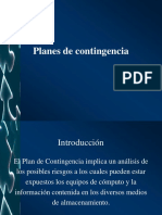 Gestión de Planes de Contingencia
