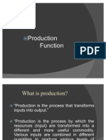 Production Function Give