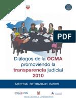 DIALOGOS DE LA OCMA PROMOVIENDO LA TRANSPARENCIA (FOLLETO)