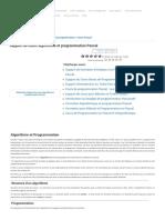 [PDF] Support de cours algorithme et programmation Pascal | Cours informatique.pdf