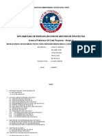 avance gestion de proyectos PMP