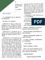 Ley de Creación del Distrito de Alcamenca, provincia de Fajardo, Ayacucho