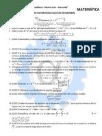 Problemas Matemática Primer Parcial