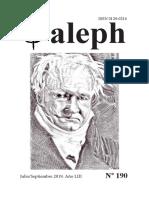 Revista Aleph. No. 190. Julio - septiembre 2019