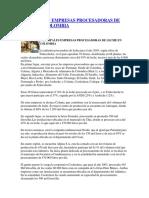Principales Empresas Procesadoras de Leche en Colombia