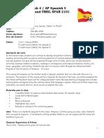 spanish 4 5 syllabus 2019 2020