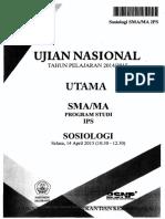 Soal UN SMA IPS Sosiologi 2015 - Mahiroffice.com
