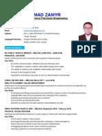 Resume Wan Muhammad Zamyr_June 2019