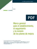 Marco general para el establecimiento, el seguimiento y la revision de los palnes de mejora