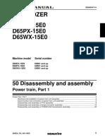 SEN00046-09 D65EX-15E0, D65PX-15E0, D65WX-15E0 BULLDOZERS