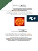 Definición Decalor Energia Trabajo