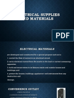 Electrical Supplies and Materials