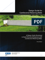 Design Guide for Cantilever Retaining Wall