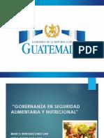 Gobernanza en Seguridad Alimentaria y Nutricional