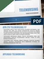 Telenursing ppt