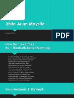 Dhita Arum Maysita Poetry