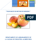 HACCP Nectar de Durazno