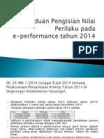 Panduan Pengisian Nilai Perilaku Pada E-PERFORMANCE