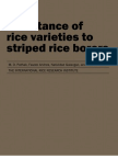 Resistance of Rice Varieties to Striped Rice Borers (TB11)
