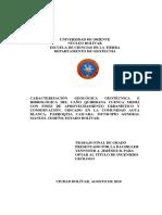 tesis geologia ciudad bolivar