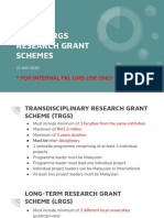 TRGS Grant Scheme