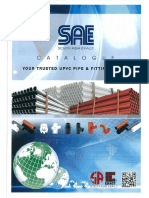 1) UPVC Pipe and Fittings - Brand SAE