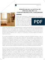 Persepcion de La Justicia de Precios Online y El Comportamiento Del Consumidor.