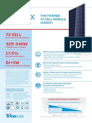 Datasheet Painel Trina | Solar Panel | Photovoltaics