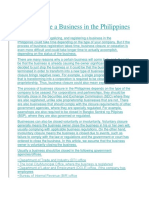 BUSINESS IN THE PHILIPPINES