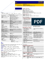 SQL Quick Reference Short