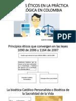 Principios Éticos en La Práctica Psicológica en Colombia
