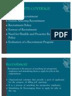 Recruitment- Selection 1