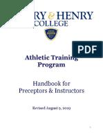 preceptor manual 2019