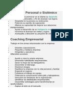 Coaching Personal o Sistémico