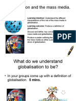 Lesson 2 Globalisation and the Mass Media Blog