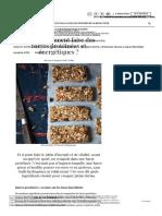 Barre Protéinée _ Quels Ingrédients Choisir Pour Faire Des Barres Protéinées Maison