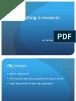 Handling Grievances