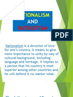 Nationalism and Patriotism