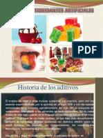 aditivos antioxidantes artificiales