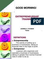 Entrepreneurship PPT Presentation