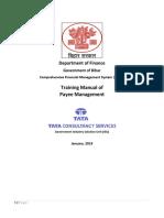 Bihar CFMS Payee Management Training Manual