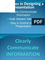 Guidelines in Designing a Presentation