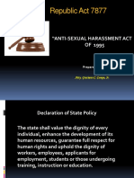 189485019 Powerpoint RA 7877 Anti Sexual Harassment Act of 1995 Final 8feb13